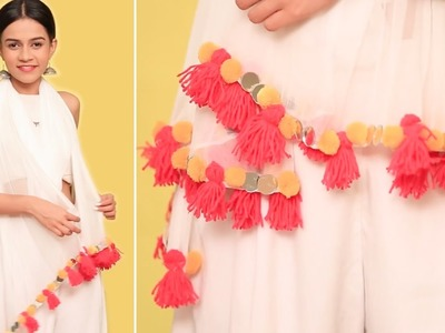 DIY: How To Amp Up Your Old Dupatta For Holi | How To Make A Tassel - POPxo