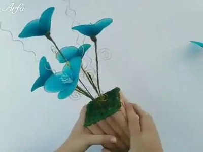 DIY how to make flowers with stocking - Tutorial
