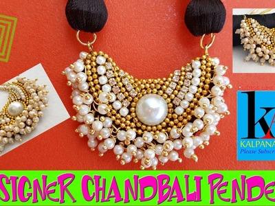 DIY   How to make Silk Thread Pendant    Designer Chandbali Pendant   Tutorial