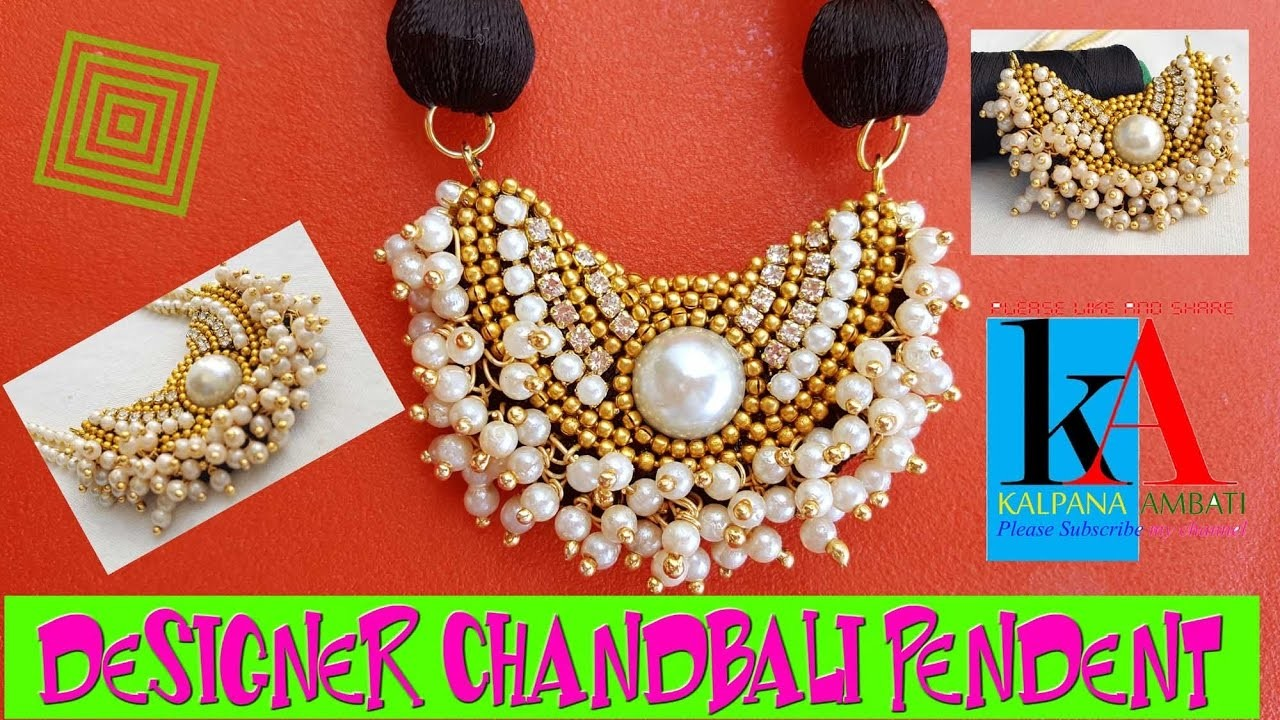 DIY | How to make Silk Thread Pendant  | Designer Chandbali Pendant | Tutorial