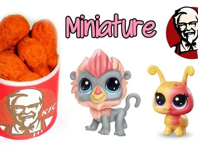 DIY Miniature KFC Food - How to Make LPS Crafts, Doll Stuff & Dollhouse Things