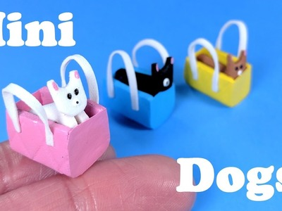 DIY Miniature Toy Dog and Miniature Purse - Doll Crafts!