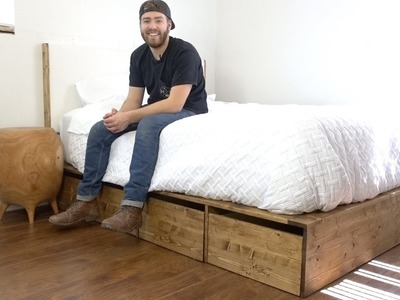 DIY Modern Platform Bed With Storage | Modern Builds | EP. 57 | How-To