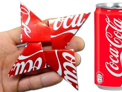 DIY Ninja Star vs Coca Cola - DIY Tutorial