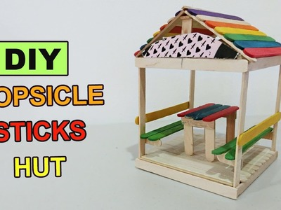 DIY Popsicle Sticks Hut #2 - Crafts ideas