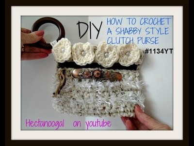 DIY Tutorial - Crochet Bohemian Clutch - Boho Evening Hand Bag - collab with Naztazia