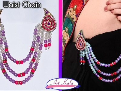 DIY: Waist chain. belly chain | Bridal kamarband at Home | Tutorial | Artkala 135