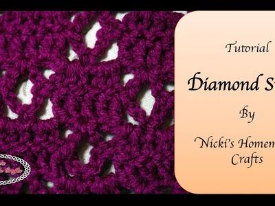 Easy Tutorial: How to crochet the Diamond stitch for the Diamond Scarf