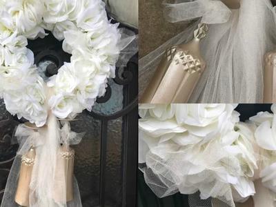 ELEGANT WEDDING WREATH | Dollar Tree Wedding | DIY Wedding Ideas