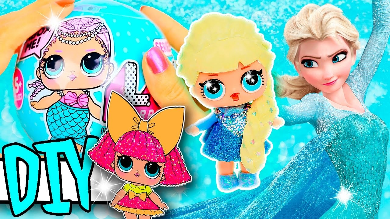 ELSA FROZEN LOL Surprise Custom Doll DIY | DISNEY Toy Tutorial | Lil Outrageous Littles