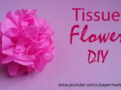 Flowers with tissue paper | DIY | Crafts