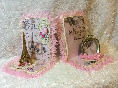 Glue Gun Chronicles Lace Bookends Tutorial DIY & Giveaway is CLOSED