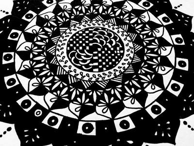 Highly Detailed Mandala ( Zentangle Inspired Art ) - Step by Step Tutorial | Karthika Loves DIY