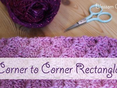 How to Crochet a Corner to Corner (C2C) Rectangle