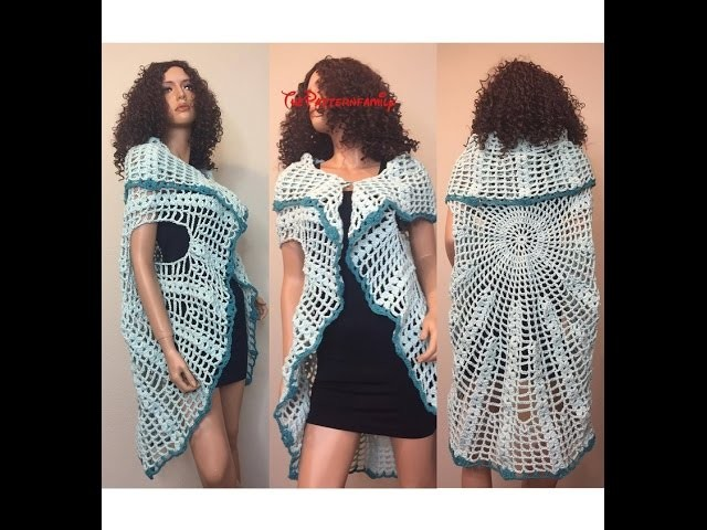 How to Crochet a Sleeveless Cardigan Vest Pattern #34│by ThePatternfamily