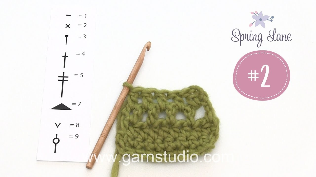 How to crochet some techniques that are used in 2nd clue in DROPS Mystery blanket Spring Lane