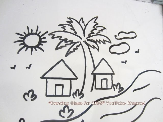How To Draw Diy Easy Scenery Drawing Step By Step Tutorial For Kids