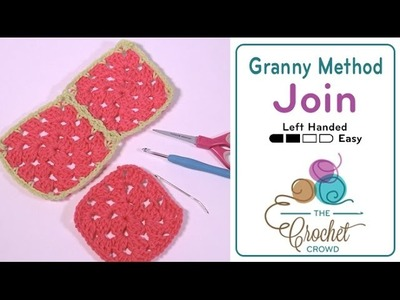 How to Join Granny Squares - Flat Braid Continuous Join LH