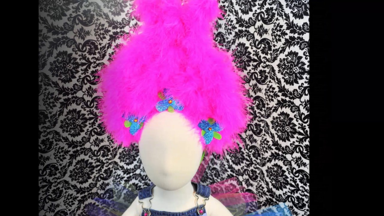 How to make a Poppy Troll Hair Headband - DIY