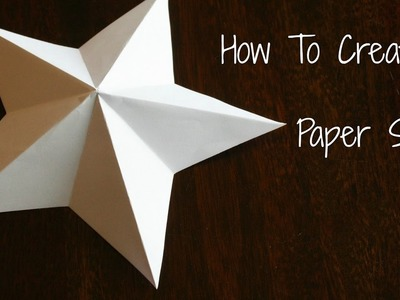How To Make a Simple & Easy Paper Star _ DIY Paper Craft Ideas