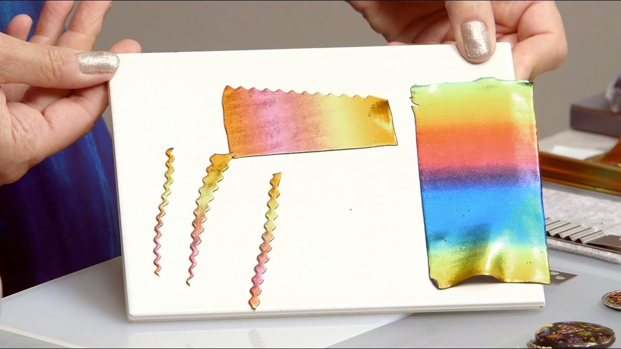 How to Make Foiled Polymer Clay Shapes