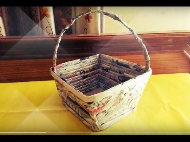 Handmade Baskets Tutorial : How to make newspaper basket diy easy handmade