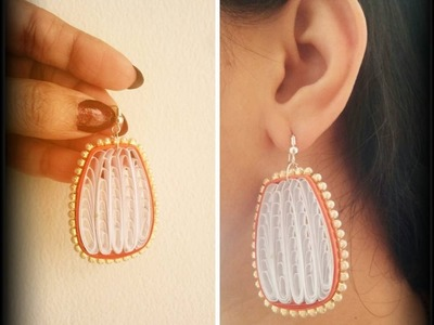 How To Make Quilling Hanging Earring Tutorial.Design 44