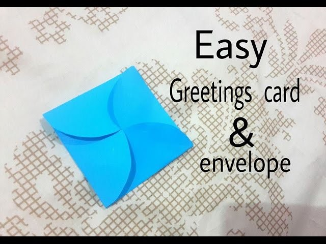 How to make simple greetings card with envelope