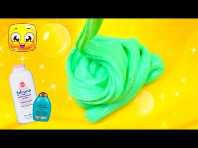 How To Make Slime with Baby Powder and Shampoo without Glue! DIY Slime without Glue by Jelly Rainbow