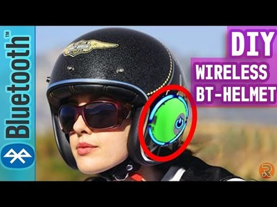 How To Make Wireless Bluetooth Helmet - DIY Life Hack