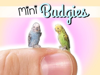 How To Miniature Budgie Tutorial. DIY Doll Pet Bird