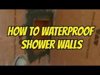 HOW TO WATERPROOF AND TILE WALK-IN SHOWER DIY