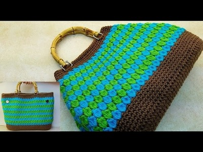 "Learn How To #Crochet  ""The Down To Earth"" Handbag Purse TUTORIAL #371"