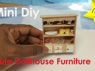 Mini DIY Cute DollHouse Furniture. Cabinet