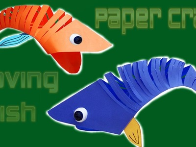 Paper Craft |  How to Make Moving Fish ???? | Paper Quilling Art