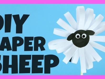 Paper Sheep Craft Idea - simple paper craft idea