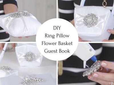 Ring Pillow Tutorial   Guest Book DIY   Flower Girl Basket Tutorial
