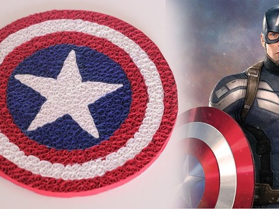 Ruchi's art | DIY | how to make cool captain America's logo using Quilling Strips