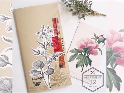Traveler's Notebook Insert.Refill Decoration DIY Idea FF 01