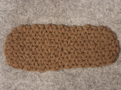 Warm , soft & cuddly - Crochet Slipper Sole - Triangle Star Stich - puffed - Part 2