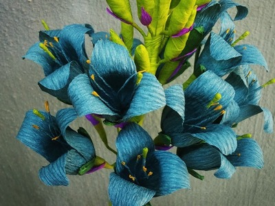 ABC TV | How To Make Sapphire Tower Puya Paper Flowers From Crepe Paper - Craft Tutorial