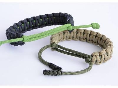 "Adjustable Paracord Survival Bracelet- No Buckle.Sliding Knot.Cobra Weave – How to make ""CbyS"""