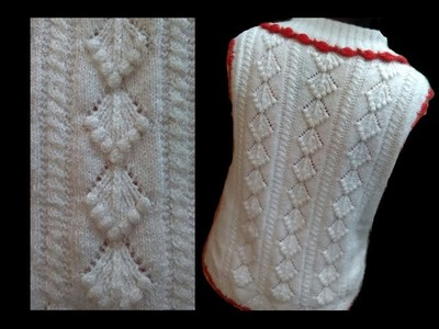 Cardigan. Sweater Design with bobbles Design No#57 in Hindi Knitting