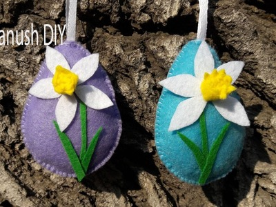 DIY HOW TO MAKE EASTER DECORATION. EASTER EGGS ORNAMENT