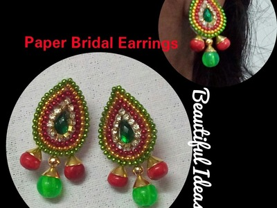 DIY.How to Make Paper Earrings. Made out of Paper Earrings At Home.