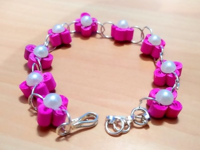 DIY : How to make quilling bracelet (pattern 1)