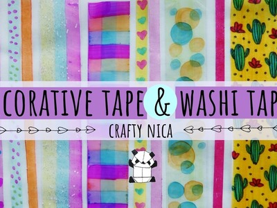 DIY:  HOW TO MAKE WASHI TAPE & SLIM WASHI TAPE ???? MAKING DECORATIVE TAPE AT HOME