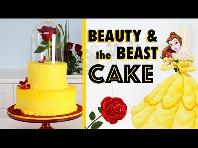 EASIEST Beauty & the Beast Cake ????How to make a Princess Wedding Cake! ♥️