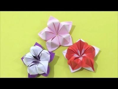 Easy Origami how to Make Flower 简单手工折纸 花 簡単折り紙  花です