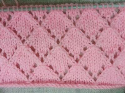 Easy Single Color Knitting Pattern No.32(Jali Design)|Hindi